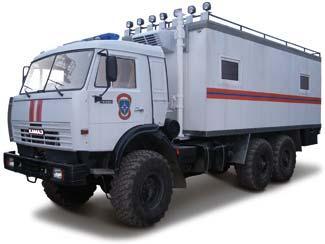 Передвижной пункт командования - автомобиль МЧС на шасси КАМАЗ ...
